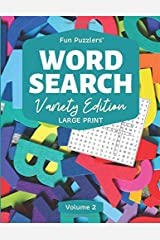 "Word Search: Variety Edition Volume 2: 8.5"" x 11"" Large Print (Fun Puzzlers Large Print Word Search Books) Paperback"