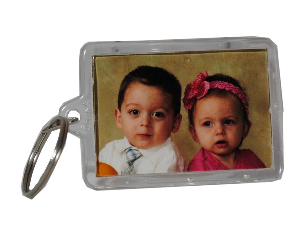 Picture Frame Key Chains Lot of 72 Clear Acrylic Photo Transparent Keychains