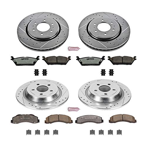 (Power Stop K6803-36 Z36 Truck & Tow Front and Rear Brake Kit)