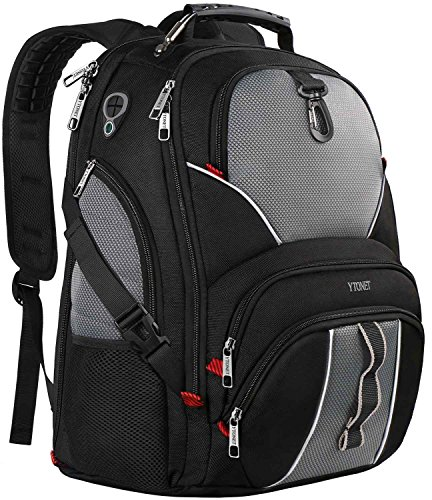 ck,Large Computer Backpack Bag Fits 17 inch Laptop for Men Women for Hiking/School/College/Business,Black TSA Smart Scan Bookbag with 9 Compartments made of Water-Resistant Fabric (Hiking School Backpack)