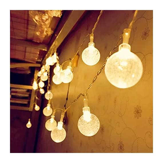 Solar String lights,CMYK LEDs Crystal Ball LED String Lights -  - patio, outdoor-lights, outdoor-decor - 51bYzaLmOfL. SS570  -