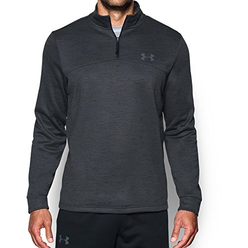 Under Armour Men's Fleece 1/4 Zip Slub, Black/Graphite, 2XL-T by Under Armour (Image #1)