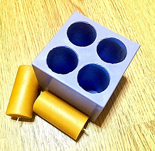(Silicone taper candle Mold 4 cavities easy release Homemade)