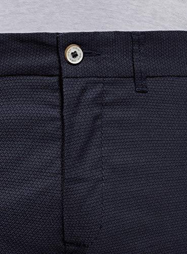 Fit Oodji Pantaloni Blu Uomo 7979g Chino Ultra Slim ZErXqEa