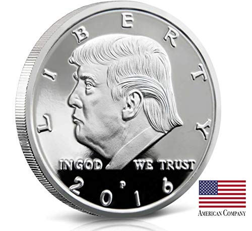 F&M Authentic Original Silver Plated Limited Edition Collectable Donald Trump Eagle Coin