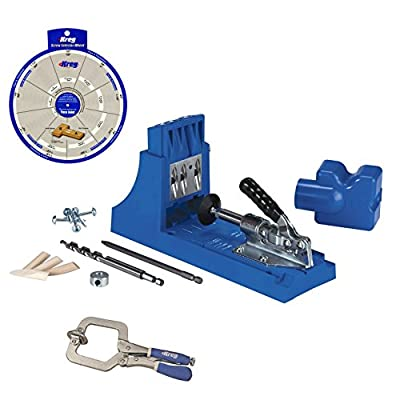 Kreg Jig K4 Pocket Hole System, KHC-PREMIUM Face Clamp, Screw Selector Wheel