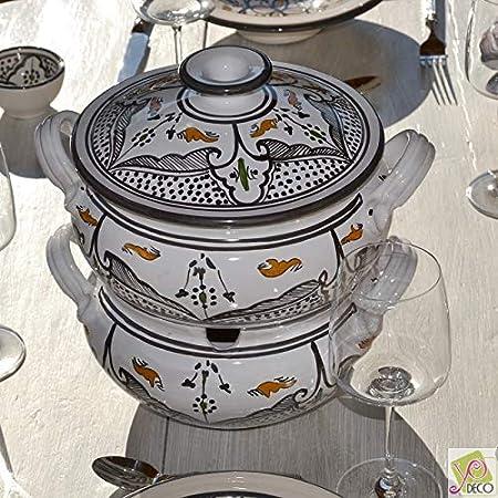 couscoussier Marocchino Nero/ /Grande Modello
