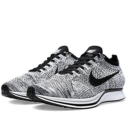 Nike Flyknit Racer, Chaussures de Running Entrainement Homme White, Black-volt