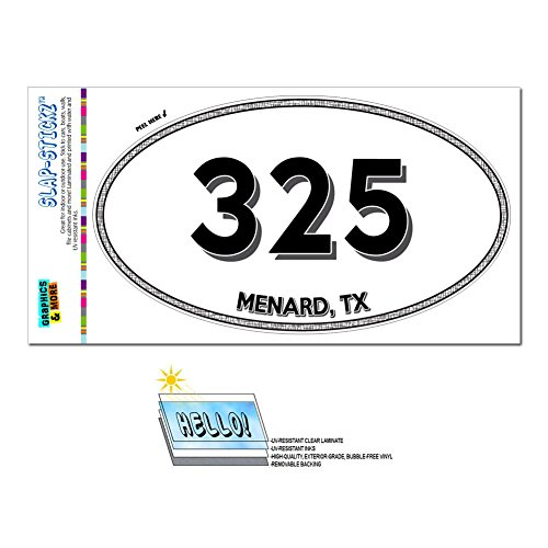 graphics-and-more-area-code-euro-oval-window-laminated-sticker-325-texas-tx-abilene-mullin-menard