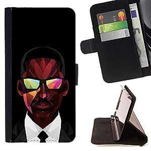 BullDog Case - FOR/Samsung Galaxy S4 IV I9500 / - / MIB Man In Black Smith /- Monedero de cuero de la PU Llevar cubierta de la caja con el ID Credit Card Slots Flip funda de cuer