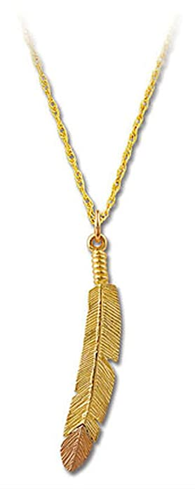 Amazon landstroms 10k black hills gold feather pendant necklace landstroms 10k black hills gold feather pendant necklace 18quot aloadofball Image collections