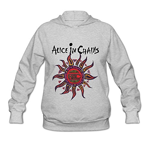 WYBU Women's Alice In Chains Long Sleeve Sweater Size S Ash,100% (Alice In Chains Halloween Shirt)