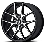 Motegi Racing MR128 Satin Black Wheel With Machined Flanged (17x7.5''/5x120mm, +45mm offset)