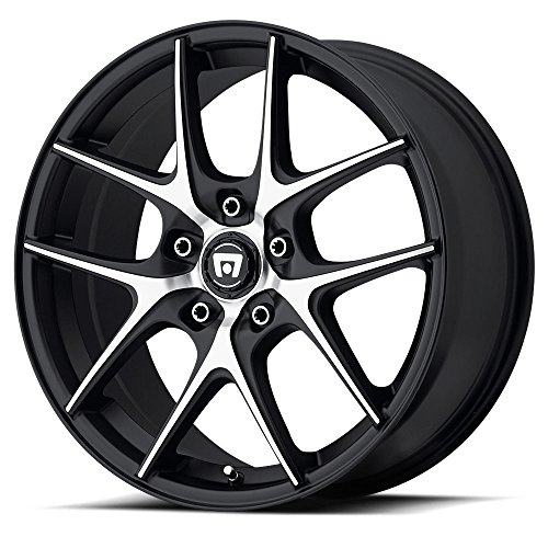 Motegi Racing MR128 Satin Black Wheel With Machined Flanged (17x7.5''/5x120mm, +45mm offset) by Motegi Racing (Image #1)