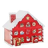 Coohole Christmas Snow House Wooden Christmas Xmas Decor Ornaments Christmas Pendant Christmas (Multicolor)
