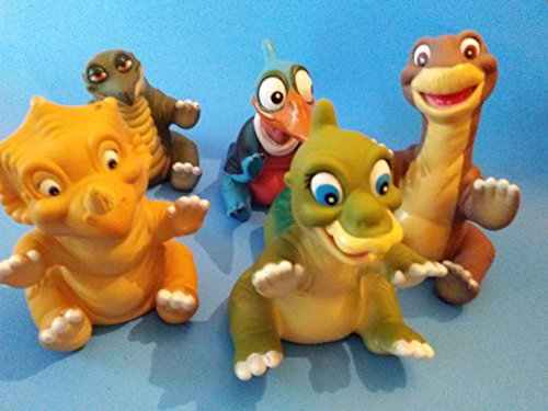 Rare Retired: Five the Land Before Time Figurines Hand Puppet (Preowned, Not Mint Have Marks) (The Land Before Time Puppets)