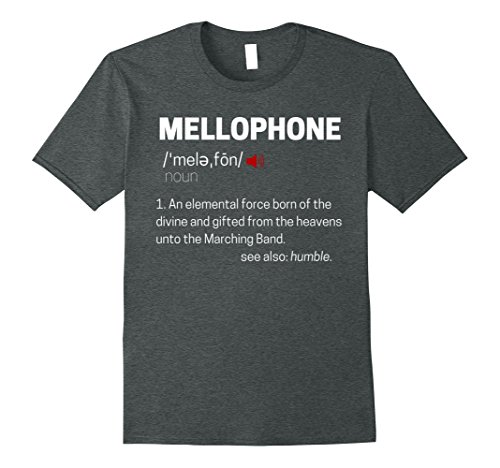 Mens Mellophone Definition Marching Band T-Shirt Small Dark Heather