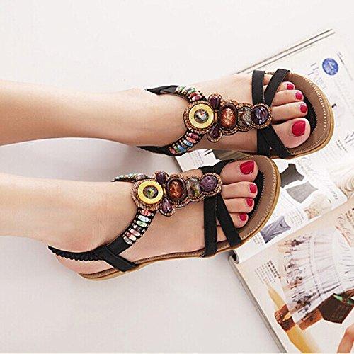 Femme Pour Sandales Eu Noir 41 35 Siketu qg6PZnw