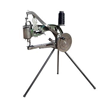 HUKOER Máquina de reparación de zapatos Máquina de coser Herramientas para zapateros con agujas,bobinas de nylon y soporte tipo trípode: Amazon.es: Hogar