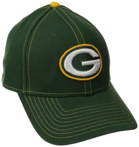 NFL Green Bay Packers True Team Classic 39Thirty Flex Fit Cap, Medium/Large