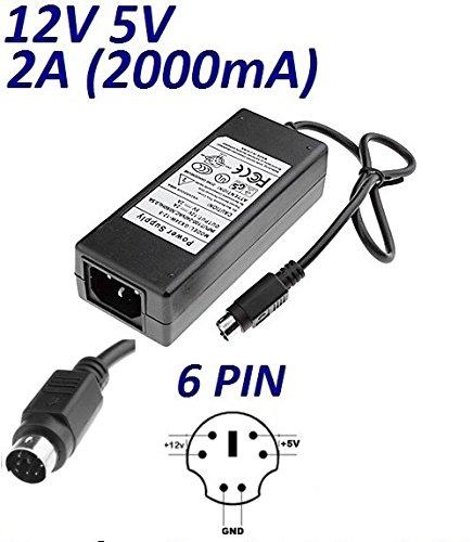 Adaptateur Secteur Alimentation Chargeur 12V 5V 2A 1.5A 6 PIN pour Remplacement CASE 35-G puissance du câble d'alimentation CARGADOR ESP