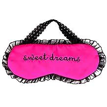 Satin Light Lace Sleeping Eye Mask Blindfold Eye shade Travel Shift Work Meditation Sleep Aid Cover