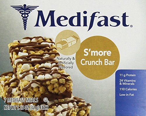 Medifast Smore Crunch Bars  1 Box 7 Servings