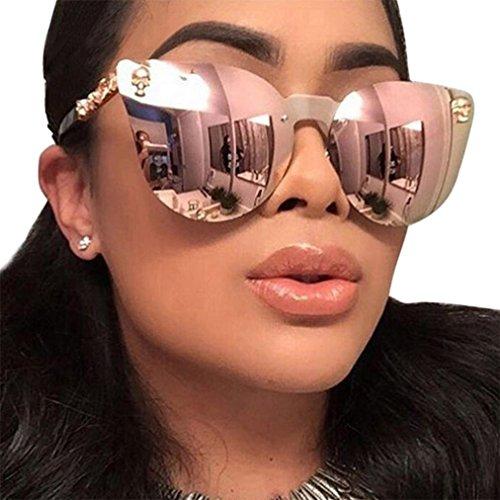 GBSELL Fashion Women Men Skull Frame Shades Acetate Frame UV Glasses Sunglasses (G)