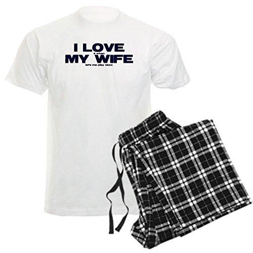 CafePress - I love my wife Xbox funny Men's Light Pajamas - Unisex Novelty Cotton Pajama Set, Comfortable PJ Sleepwear
