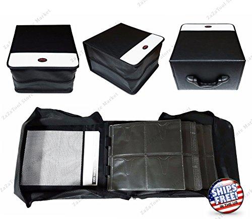 ZaZaTool 520 Discs Portable CD DVD Wallet Holder Bag Case Album Organizer Storage (Spiderman Player Dvd)
