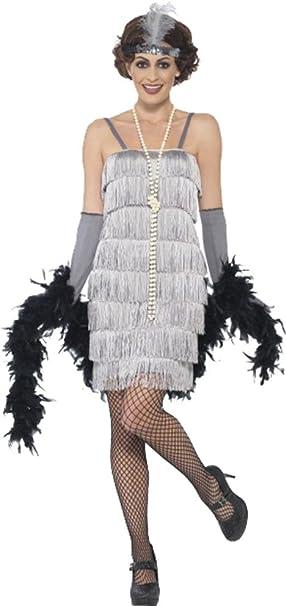 Purple Flapper Costume 1920s Gatsby Charlston Ladies Womens Fancy Dress 8-30