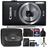 Canon IXUS 185 / ELPH 180 20MP Full HD Video Black Digital Camera with Top Accessory Bundle