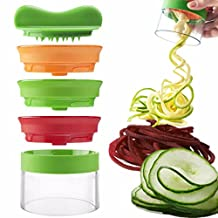 3 Blades Hand Held Spiral Slicer Vegetable Pasta Maker for Zucchini Noodle Pasta, Carrot, Potato, Beet, Squash, Cucumber, Etc.