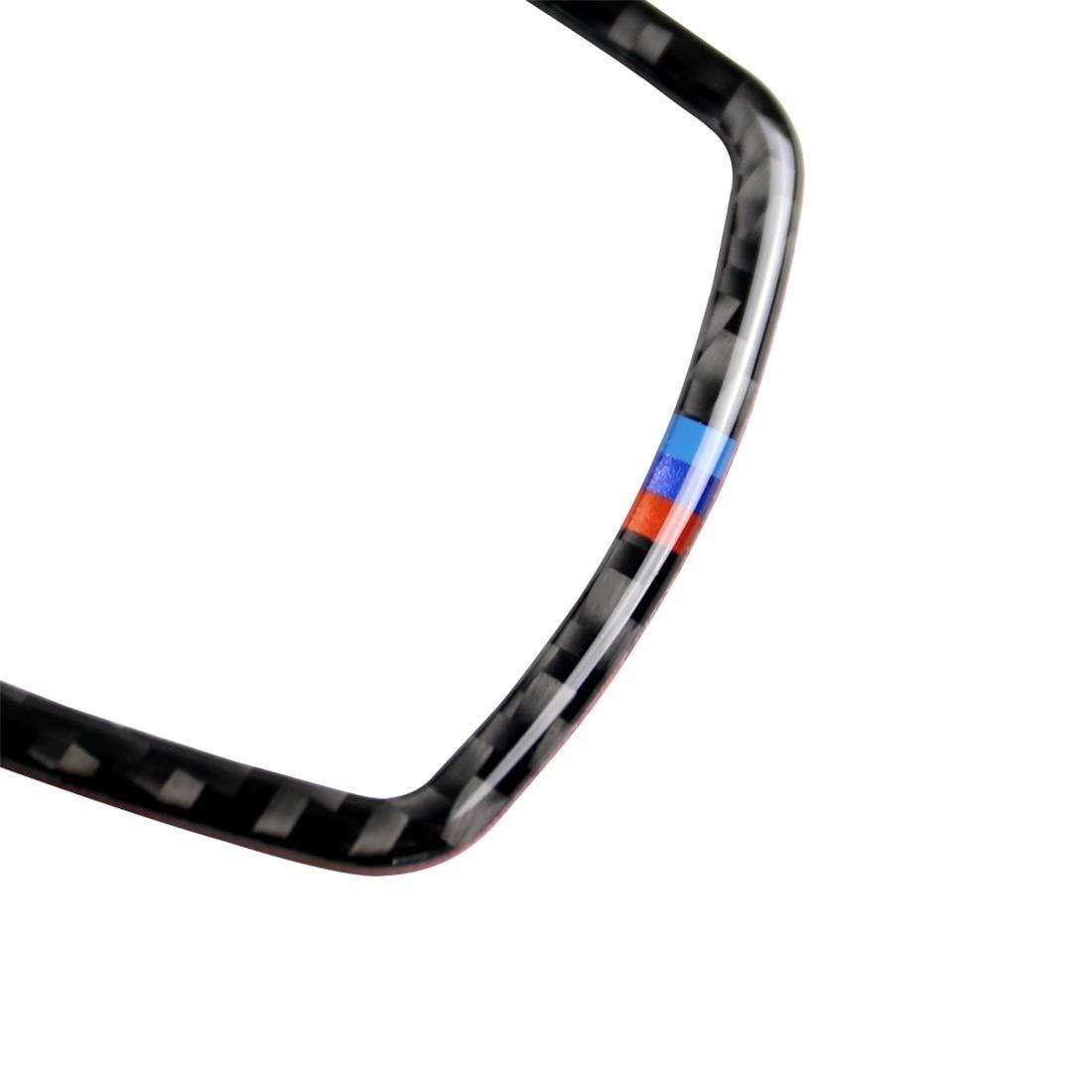 F15 F25 F20 X6 F34 F16 Accesorios interiores Marco de tres fibra del carb/ón Color de multimedias del coche de la etiqueta engomada for BMW X3 F26 sutible for F07 X5 X4 F30 F10