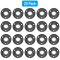 GOOVI Floor Flange, 3/4 inches Malleable Cast Iron Pipe Flange, Industrial Pipe Flanges for Threaded Black Pipes and Fittings, Build Vintage DIY Shelving Steampunk Furniture, 20 Pack.