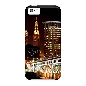 XiFu*MeiMycase88 Fashion Protective Downtown Cleveland Cases Covers For Iphone 5cXiFu*Mei