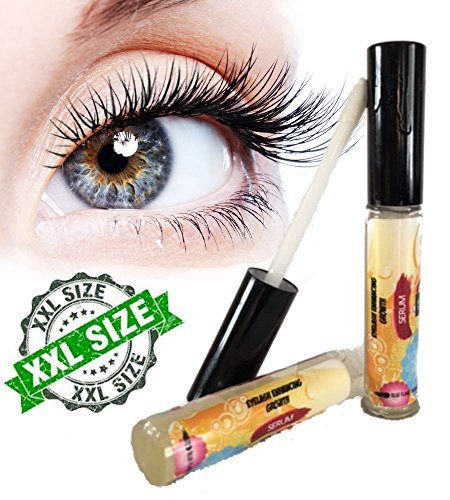 Eyelash Enhancer Growth Serum (10 ml) — High Potency for Longer, Thicker, Fuller Lashes and Brows — Boosts Regrowth — Irritation Free — All Natural Rapid Hair Growth Conditioner