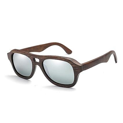 Z.L.F Gafas Gafas de Sol polarizadas de bambú Pilotos ...