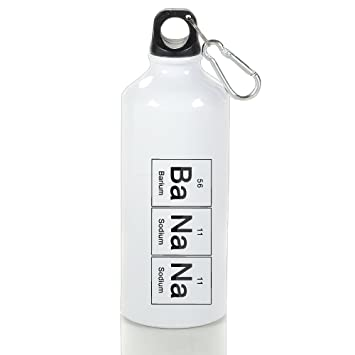 Cutadorns BaNaNa Barium Sodium Chemistry Elements Aluminum Leakproof Sport Water Bottle 400ml