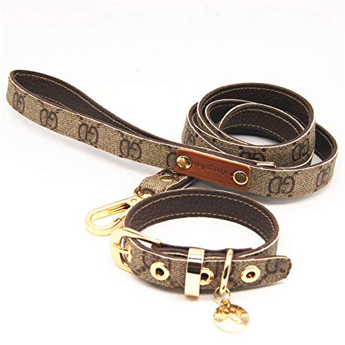 Collars Wholesale Cat - PTLX Basic Dog Collars,Cat Collars,Pet Supplies-Chi pet Leather Collar Traction Belt Set Dog Rope cat Chain pet Wholesale