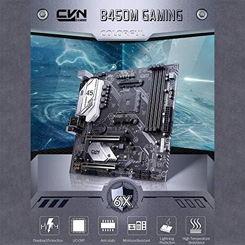 docooler Colorful Scheda Madre CVN B450M Gaming V14 Scheda Madre da Gioco Supporto per processori AMD Socket AM4 e Ryzen Series