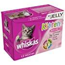 Whiskas Kitten Food Pouch Jelly Selection 12 x 100 g (Pack of 4)