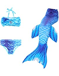 Qualified 3pcs Little Mermaid Tails For Swimming Costume Mermaid Tail Cosplay Girls Swimsuit Kids Children Ruffles Beach Swimwear Clothes Mother & Kids