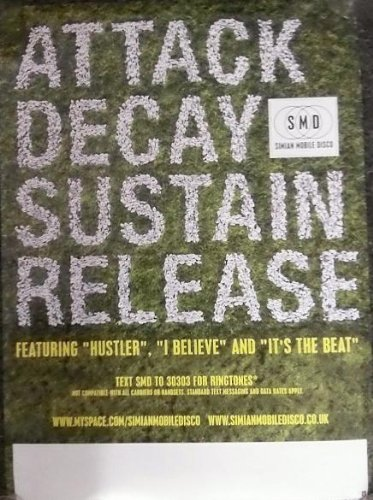 SIMIAN MOBILE DISCO - ATTACK DECAY SUSTAIN RELEASE 11x17 POSTER P201C