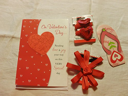 - Valentine Package (A Writing Cart, a Tiny Slipper Notes, a Pair of Pony Tail Elastic and a 2