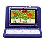 iRULU eXpro X1 7 Inch Quad Core Google Android Tablet PC, 1024x600 Resolution, Wi-Fi, Games, Dual Cameras, 16GB Nand Flash with keyboard