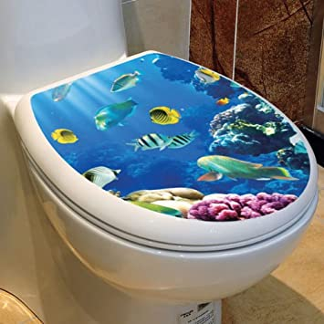 BestOfferBuy Tropical Fish Aquarium Bathroom Toilet Seat Lid Cover ...