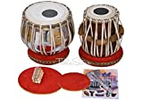 MAHARAJA Ek Omkar ੴ Tabla Drum Set, 3 Kg Brass Bayan, Finest Dayan with Book, Hammer, Cushions & Cover (PDI-IH)
