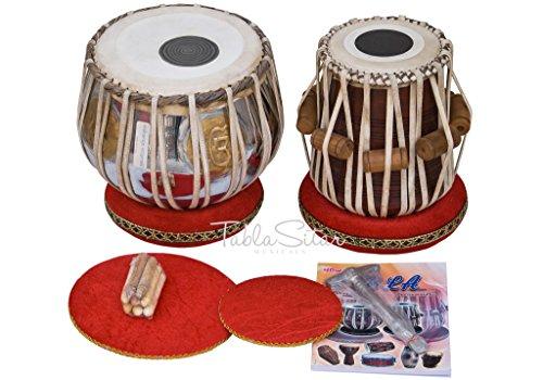 MAHARAJA Ek Omkar ੴ Tabla Drum Set, 3 Kg Brass Bayan, Finest Dayan with Book, Hammer, Cushions & Cover (PDI-IH) by Maharaja Musicals