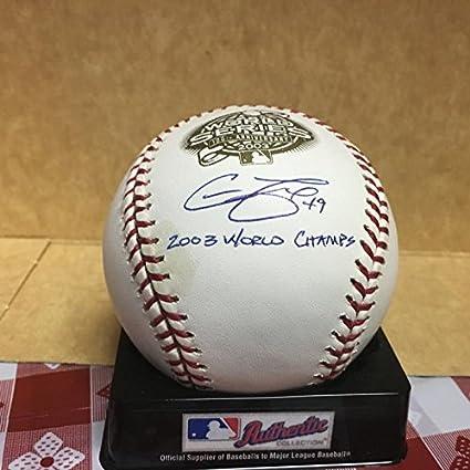 804f6ecda61 Chad Fox Signed Baseball - Marlins 2003 W s M l W coa - Autographed ...